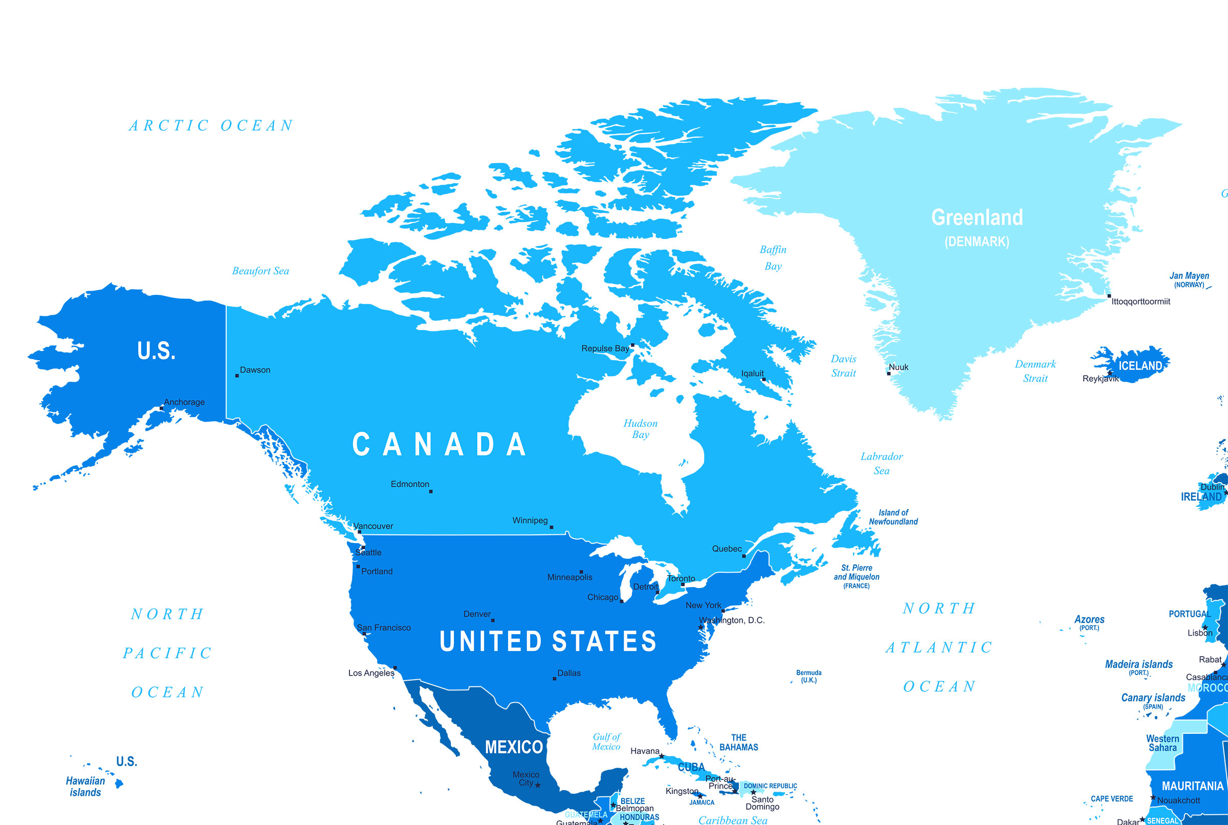 North America Map 2019
